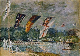 Regatta at Molesey, near Hampton Court, 1874 by Alfred Sisley | Painting Reproduction
