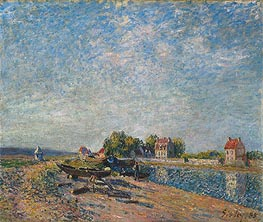 Saint-Mammès, Canal du Loing, 1885 by Alfred Sisley | Painting Reproduction