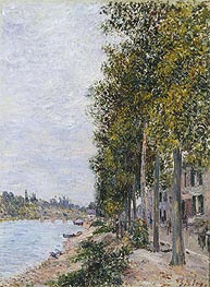 Road Along the Seine at Saint-Mammes, c.1880 by Alfred Sisley | Painting Reproduction