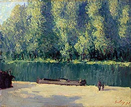 Banks of the Loing, 1891 by Alfred Sisley | Painting Reproduction