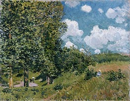 The Road from Versailles to Saint-Germain, 1875 von Alfred Sisley | Gemälde-Reproduktion