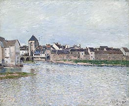 Bridge at Moret-sur-Loing, 1891 by Alfred Sisley | Painting Reproduction