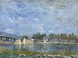 The Bridge at Saint-Mammes, 1881 by Alfred Sisley | Painting Reproduction