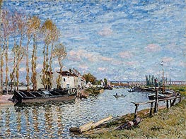 The Loing at Saint-Mammès, 1882 by Alfred Sisley | Painting Reproduction