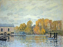 Waterworks at Marly, c.1876 by Alfred Sisley | Painting Reproduction