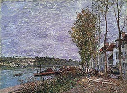 Overcast Day at Saint-Mammès, c.1880 by Alfred Sisley | Painting Reproduction