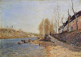 La Croix-Blanche at Saint-Mammès, 1884 by Alfred Sisley | Painting Reproduction