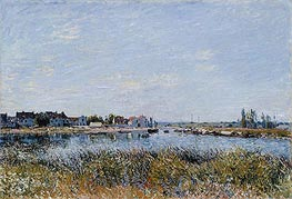 Saint-Mammès: Morning, 1881 by Alfred Sisley | Painting Reproduction