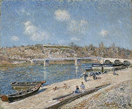 The Beach at Saint-Mammès, 1884 by Alfred Sisley | Painting Reproduction