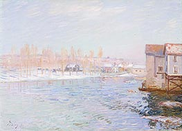 Landscape: Snow Scene, 1891 by Alfred Sisley | Painting Reproduction