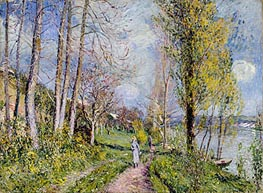 Banks of the Seine, c.1880/81 by Alfred Sisley | Painting Reproduction