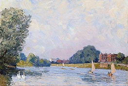 Hampton Court | Alfred Sisley | Painting Reproduction