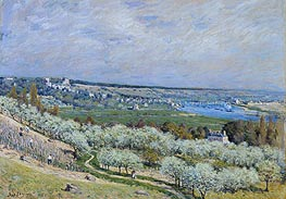 The Terrace at Saint-Germain, Printemps, 1875 von Alfred Sisley | Gemälde-Reproduktion
