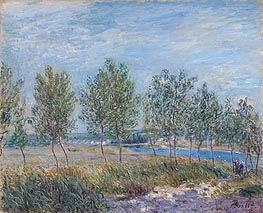 Poplars on a River Bank | Alfred Sisley | Gemälde Reproduktion