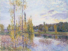 The Lake at Chevreuil, 1888 von Alfred Sisley | Gemälde-Reproduktion