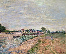 Saint-Mammes | Alfred Sisley | Painting Reproduction