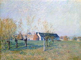 The Farm, 1874 von Alfred Sisley | Gemälde-Reproduktion