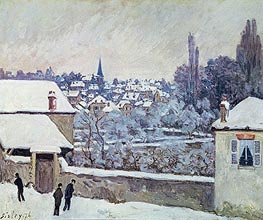 Winter in Louveciennes, 1876 von Alfred Sisley | Gemälde-Reproduktion