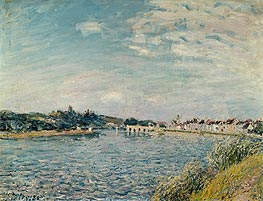 Landscape at Saint-Mammes | Alfred Sisley | Painting Reproduction