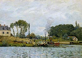 Boats at the Lock at Bougival, 1873 von Alfred Sisley | Gemälde-Reproduktion