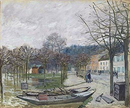 The Flood at Port-Marly | Alfred Sisley | Painting Reproduction