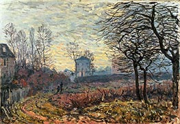 Landscape near Louveciennes | Alfred Sisley | Painting Reproduction