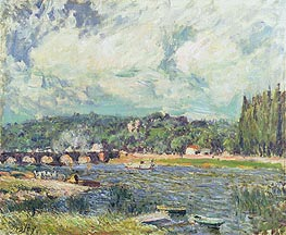 The Bridge at Sevres, c.1877 von Alfred Sisley | Gemälde-Reproduktion