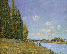 The Seine at Billancourt, 1879 von Alfred Sisley | Gemälde-Reproduktion