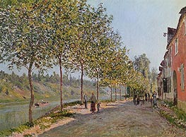 June Morning in Saint-Mammes, 1884 von Alfred Sisley | Gemälde-Reproduktion