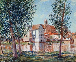 The Loing at Moret, September Morning, 1888 von Alfred Sisley | Gemälde-Reproduktion