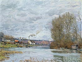 The Seine at Port Marly, 1873 von Alfred Sisley | Gemälde-Reproduktion