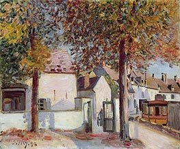 Moret-sur-Loing (Rue de Fosses), 1892 by Alfred Sisley | Painting Reproduction