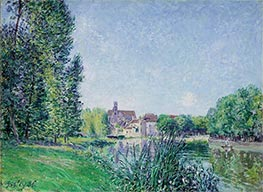 The Loing and the Church at Moret, 1886 von Alfred Sisley | Gemälde-Reproduktion