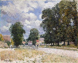 The Road to Marly-le-Roi, 1875 von Alfred Sisley | Gemälde-Reproduktion