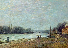 After the Thaw (Seine at Suresnes Bridge), 1880 von Alfred Sisley | Gemälde-Reproduktion