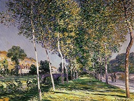 The Walk, 1890 von Alfred Sisley | Gemälde-Reproduktion