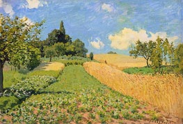 The Cornfield near Argenteuil, 1873 by Alfred Sisley | Painting Reproduction