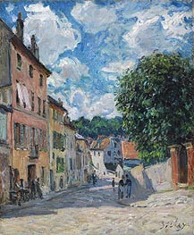 A Street in Port-Marly, 1876 von Alfred Sisley | Gemälde-Reproduktion