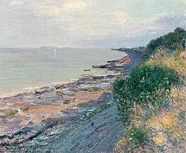The Cliff at Penarth, Evening, Low Tide, 1897 von Alfred Sisley | Gemälde-Reproduktion