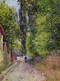 Landscape near Louveciennes, 1876 by Alfred Sisley | Painting Reproduction