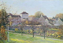 The Last Ray of Sun, 1873 von Alfred Sisley | Gemälde-Reproduktion
