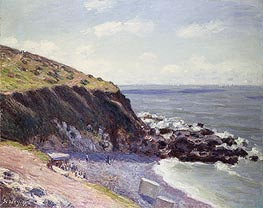 Lady's Cove, Langland Bay, 1897 von Alfred Sisley | Gemälde-Reproduktion