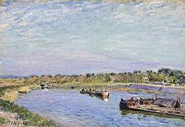 The Port of Saint Mammes, Morning, 1885 by Alfred Sisley | Painting Reproduction