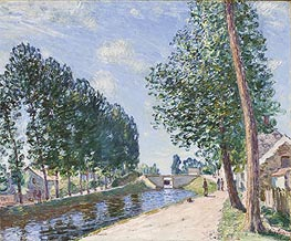 The Loing Canal at Moret, c.1892 by Alfred Sisley | Painting Reproduction