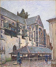 The Church at Moret in the Rain, 1894 by Alfred Sisley | Painting Reproduction