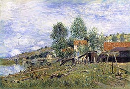 Boatyard at Saint-Mammes, 1886 by Alfred Sisley | Painting Reproduction