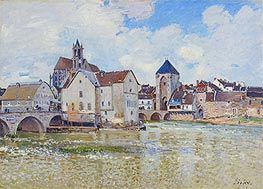 The Bridge at Moret, 1888 by Alfred Sisley | Painting Reproduction