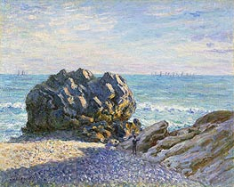 Storr Rock, Lady's Cove, Evening, 1897 by Alfred Sisley | Painting Reproduction