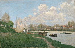 Drying Nets - Villeneuve-la-Garenne, 1872 by Alfred Sisley | Painting Reproduction