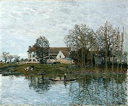 The Seine at Port-Marly, 1875 by Alfred Sisley | Painting Reproduction